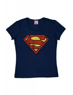 Superman-Shirt Girlie Shirt DC™ blau-rot-gelb