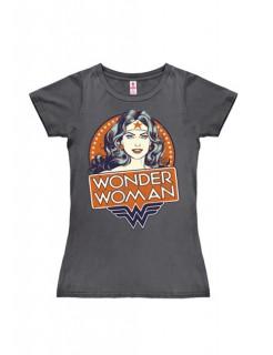 DC™ Wonder Woman™ Girlie-T-Shirt grau-rot