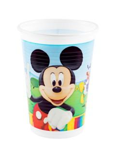 Mickey Mouse Pappbecher Kindergeburtstag-Deko Lizenzware 8 Stück bunt 266ml