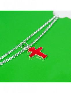 Ampelmännchen-Halskette Accessoire silber-rot