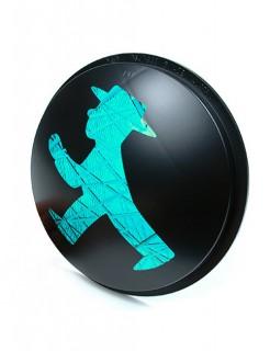 Ampelmännchen Ampelglas Ostalgie Deko schwarz-grün
