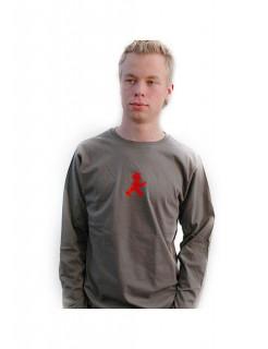 Ampelmännchen-Pullover für Männer oliv-rot-grün
