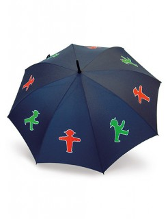 Ampelmann-Regenschirm Ostalgie-Geschenk blau-grün-rot