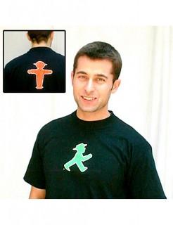 Ampelmännchen-T-Shirt für Männer schwarz-rot-grün