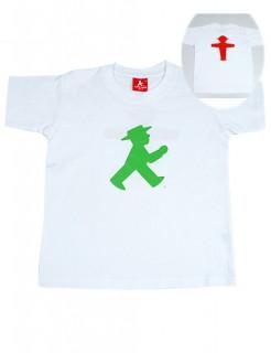 Ampelmann-T-Shirt Geschenkidee Ostalgie weiss-grün-rot