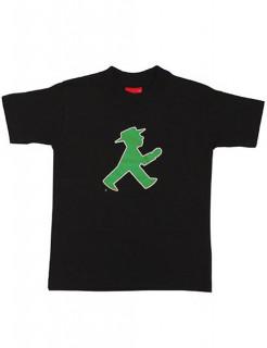 Ampelmännchen-T-Shirt für Kinder schwarz-grün-rot