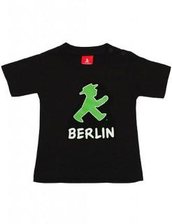 Ampelmännchen-T-Shirt für Kinder Berlin schwarz-grün-rot