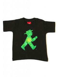 Ampelmann Luxuskerlechen Ostalgie Kinder-T-shirt schwarz-grün-rot