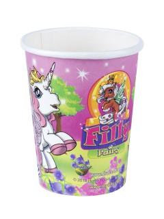 Filly Fairy Ponys Becher Kindergeburtstag Deko 8 Stück bunt 250ml