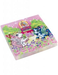 Servietten Filly Fairy Ponys Kindergeburtstag Deko 20 Stück bunt 33x33cm