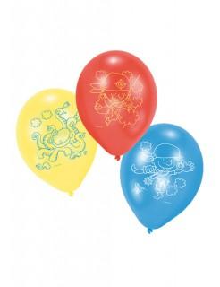 Luftballons Piraten Kindergeburtstag Deko 6 Stück gelb-rot-blau 27,5cm