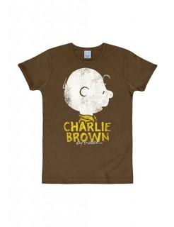 Charlie-Brown-T-Shirt Slim Fit braun-weiss-gelb