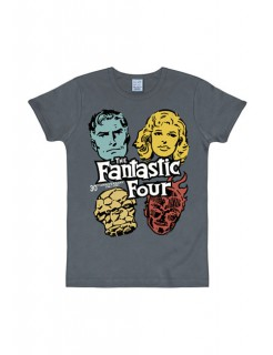 Fantastic Four™-T-Shirt Marvel™-Shirt Slim Fit grau-bunt