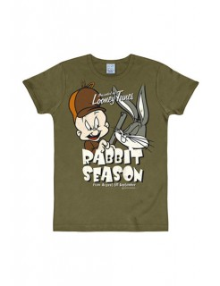 Looney Tunes™-T-Shirt Rabbit Season Slimfit olivgrün
