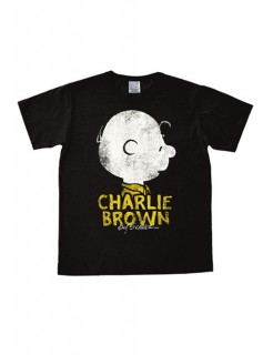 Charlie Brown-T-Shirt Peanuts™ Easy Fit dunkelbraun-weiss-gelb