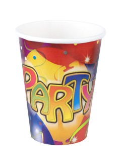 Party Pappbecher Party-Deko 8 Stück bunt 250ml