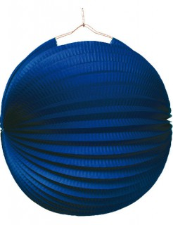 Lampion Garten-Party Deko blau