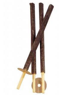 Wachsfackeln Gartenparty-Deko 3 Stück beige-braun 56cm