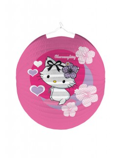 Lampion Charmmy Kitty Kindergeburtstag-Deko pink-flieder