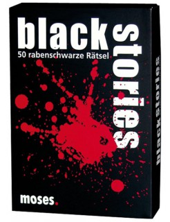 Black Stories - 50 rabenschwarze Rätsel schwarz-weiss-rot 9x13cm