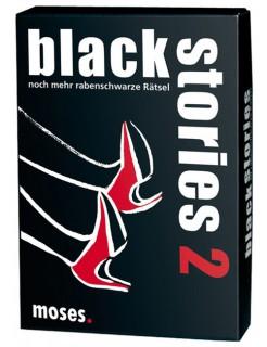Black Stories 2 - noch mehr rabenschwarze Rätsel schwarz-weiss-rot 9x13cm