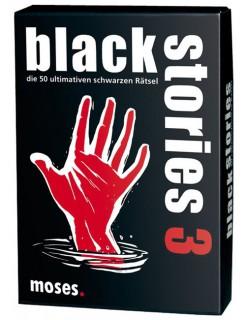 Black Stories 3 - Die 50 ultimativen schwarzen Rätsel schwarz-weiss-rot 9x13cm