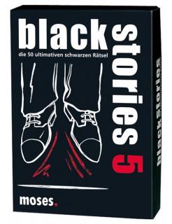 Black Stories 5 - die 50 ultimativen schwarzen Rätsel Spiel schwarz-weiss-rot