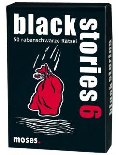 Black Stories 6 - 50 rabenschwarze Rätsel schwarz-weiss-rot 9x13cm