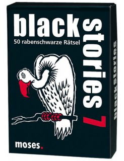 Black Stories 7- 50 rabenschwarze Rätsel schwarz-weiss-rot
