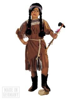 Indianerin Kriegerin Kleid Kinderkostüm braun