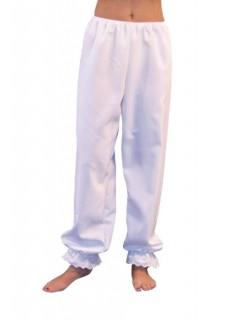Lange Damen-Unterhose mit Spitze weiss