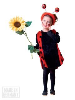 Marienkäfer-Tunika Kinderkostüm schwarz-rot