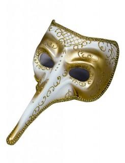 Venezianische Maske Theatermaske Schnabelmaske Karneval gold