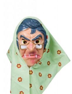 Maske Theatermaske Gesichtsmaske Alte Frau Haut Blau Gunstige