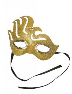 Venezianische Augenmaske Glitter gold