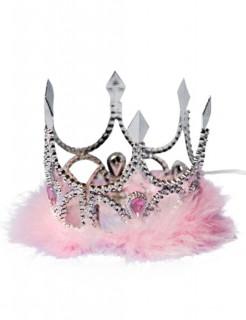 Krönchen Krone Prinzessin Tiara silber-rosa