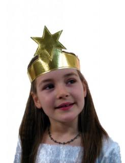 Stirnband Stern Krone Sternenkrone gold