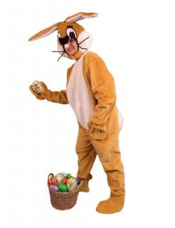 Hase Häschen Bunny Plüschhase Overall Kostüm braun-weiss