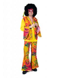 Hippie 60er 70er Hippieanzug Flower Power Herrenkostüm bunt
