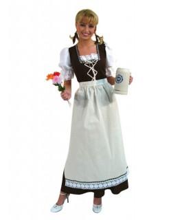 Trachten Trachtenkleid Dirndl Damenkostüm braun-weiss-minze