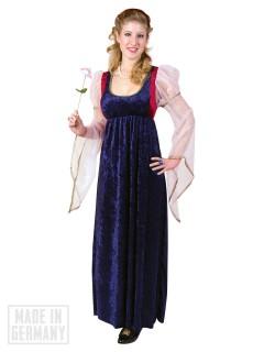 Burgfräulein Burgdame Damenkostüm blau-weiss-rot