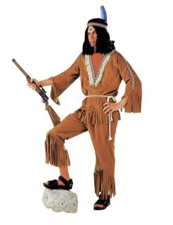 Indianer Krieger Häuptling Anzug Herrenkostüm braun