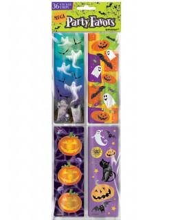 Halloween Sticker-Set Party-Deko 36-teilig bunt 16x12cm