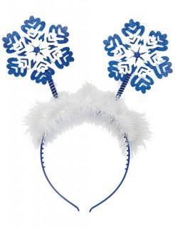 Schneeflocke Haarreif Weihnachten weiss-blau