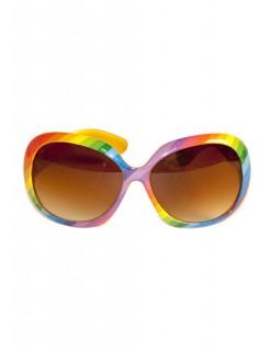 70er Disco Brille bunt