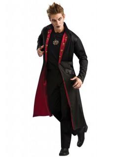 Vampir-Mantel Herrenkostüm Gothic Halloween schwarz-rot