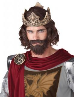 Mittelalter Prinz Herrenperücke braun