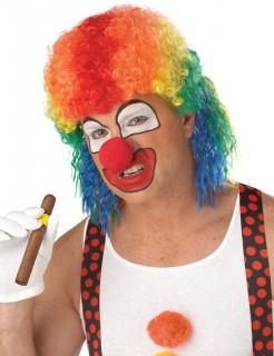 Psycho Clown Halloween Vokuhila Perücke bunt