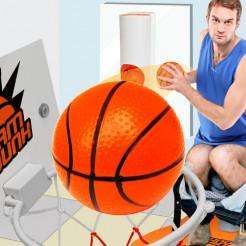 Basketball-Spiel für die Toilette Dekoration weiss-orange