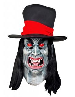 Halloween Riesenmaske Vampir weiss-rot-schwarz